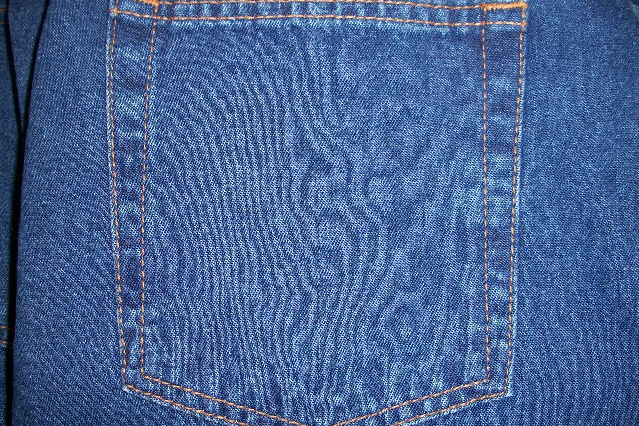 Denim fabric does not attract pet hair