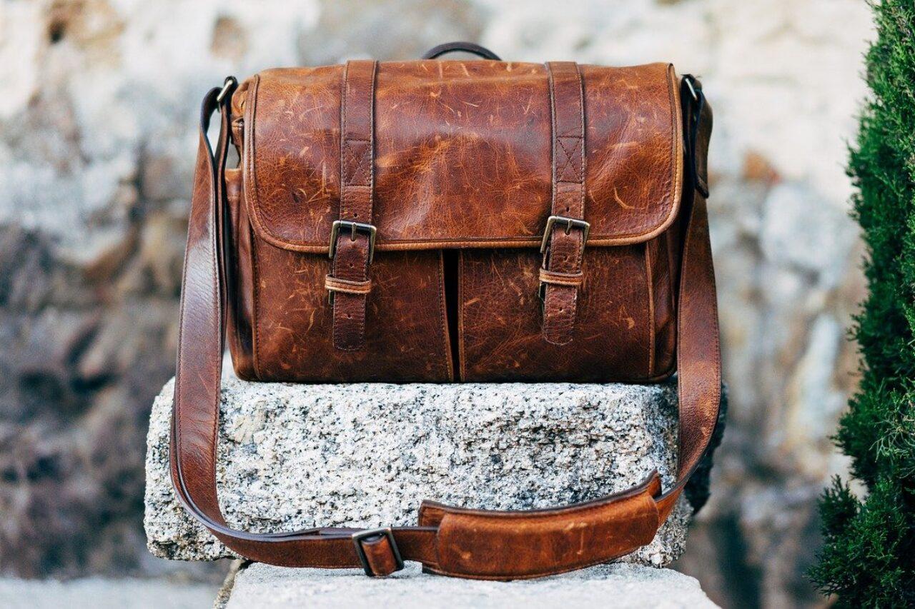Leather bag resist pet hair